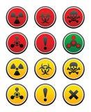 Symbols of hazard Royalty Free Stock Images
