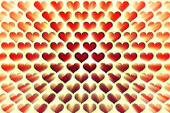 Symbols heart. Blast from the set of hearts with a bright flash Royalty Free Stock Photography