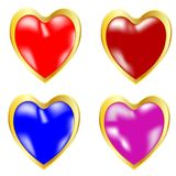 Symbols heart miscellaneous of the colour Royalty Free Stock Image