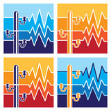 Symbols of high voltage Royalty Free Stock Photography