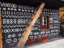 Symbols, House, Čičmany, Slovakia Royalty Free Stock Images