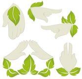 Symbols of human's hands Stock Image