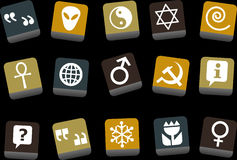 Symbols Icon Set Stock Images