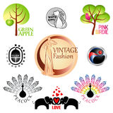Symbols and icons Stock Image