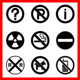Symbols icons set great for any use. Vector EPS10. Stock Images