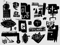 Symbols. Image symbols that relate to the art of graffiti Royalty Free Stock Photography
