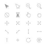 Symbols Internet Arrows and Internet Control Set Of Cursor Icons Line. This is graphics vector Illustration icons. Ready to use for websites, social medias Royalty Free Stock Images
