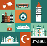 Symbols of Istanbul. Royalty Free Stock Photos