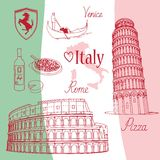 Symbols of Italy Royalty Free Stock Images
