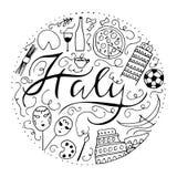 Symbols of Italy. Stock Photos