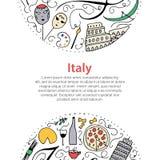 Symbols of Italy. Royalty Free Stock Photos