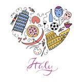 Symbols of Italy. Stock Photo