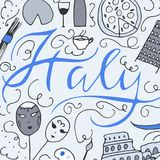 Symbols of Italy. Royalty Free Stock Images