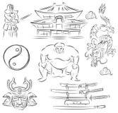 Symbols of Japan Stock Image