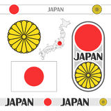 Symbols of Japan Royalty Free Stock Photo