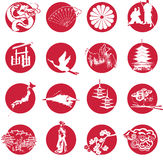 Symbols of Japan Royalty Free Stock Image