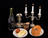 Symbols of the Jewish new year Stock Photo