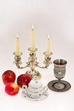Symbols of the Jewish new year Royalty Free Stock Photo