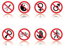 Symbols - jokes. Stock Images