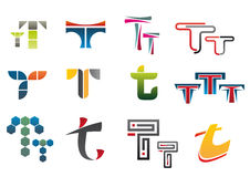 Symbols of letter T Royalty Free Stock Photos