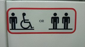 Symbols for lift users. Controls in the lift for disabled access Stock Photography