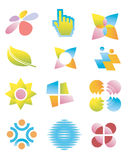 Symbols_logos_icons. Several concepts for company logos. Vector illustration Royalty Free Stock Photos