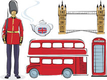 Symbols of London. Symbols of the United Kingdom Stock Photo