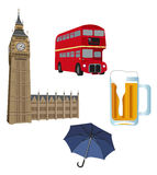Symbols of London Royalty Free Stock Image
