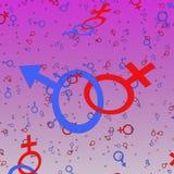 Symbols  male and female Stock Photos