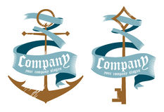 Symbols for marine firms. Royalty Free Stock Images