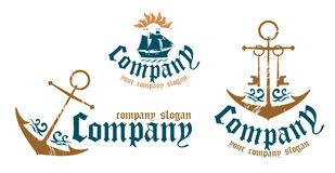 Symbols for marine firms. Stock Images