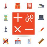 symbols of mathematics colored icon. Detailed set of colored education icons. Premium graphic design. One of the collection icons vector illustration