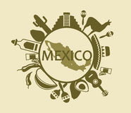 Symbols of Mexico Royalty Free Stock Images