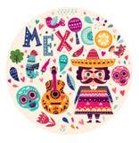 Symbols of Mexico Royalty Free Stock Photo