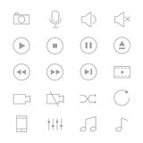 Symbols Music Control and Music Player Set Of Music Icons Line Stock Photos