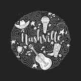 The symbols of Nashville vector illustration