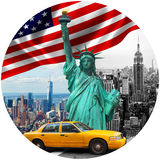 Symbols of New York City Stock Images