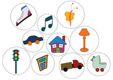 Symbols and objects. The little clip art collection Royalty Free Stock Photo