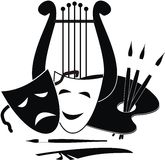 Symbols Of Arts, Music. And Theater Royalty Free Stock Images