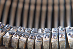 Symbols of old typewriter. Royalty Free Stock Image