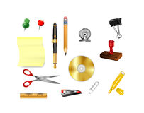 Symbols for office supplies Royalty Free Stock Photography