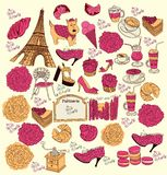 Symbols of Paris Stock Image