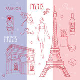Symbols of Paris Royalty Free Stock Image