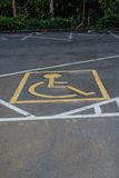 Symbols parking for the disabled. Royalty Free Stock Photography