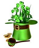 Symbols of Patrick day Stock Photo
