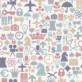 Symbols pattern Royalty Free Stock Images