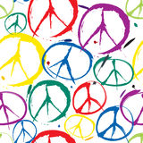 Symbols of peace seamless background vector illustration