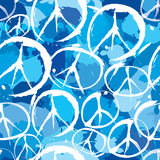 Symbols of peace seamless background Stock Images