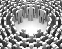 Symbols of people lined up in a circle Stock Photo