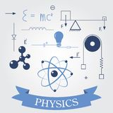 Symbols of physics Stock Images
